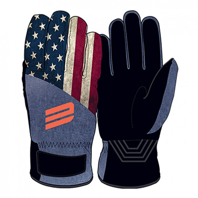 Ski gloves Energiapura Flag