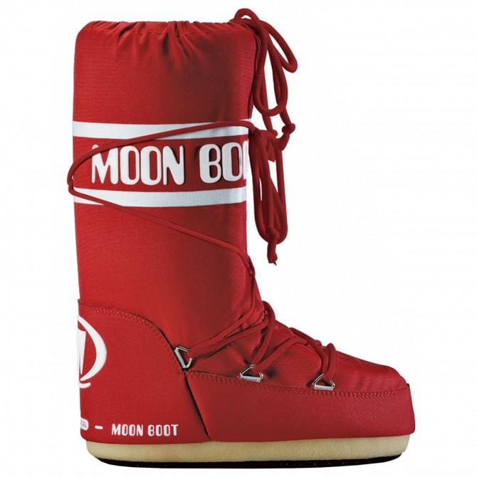 Après-ski Moon Boot Nylon Junior rouge