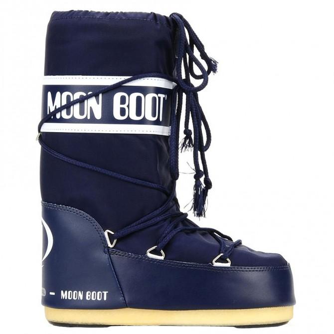 Après-ski Moon Boot Nylon Junior bleu