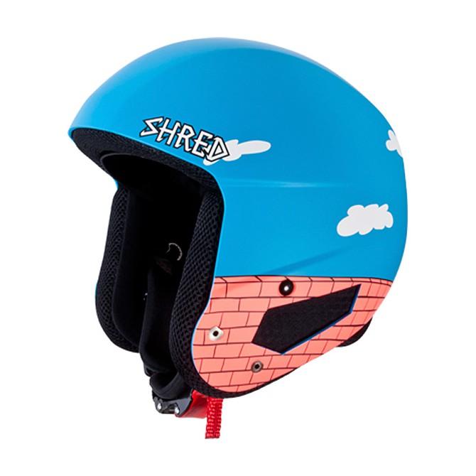 Casco sci Shred Mega Brian Bucket azzurro-bianco-mattone