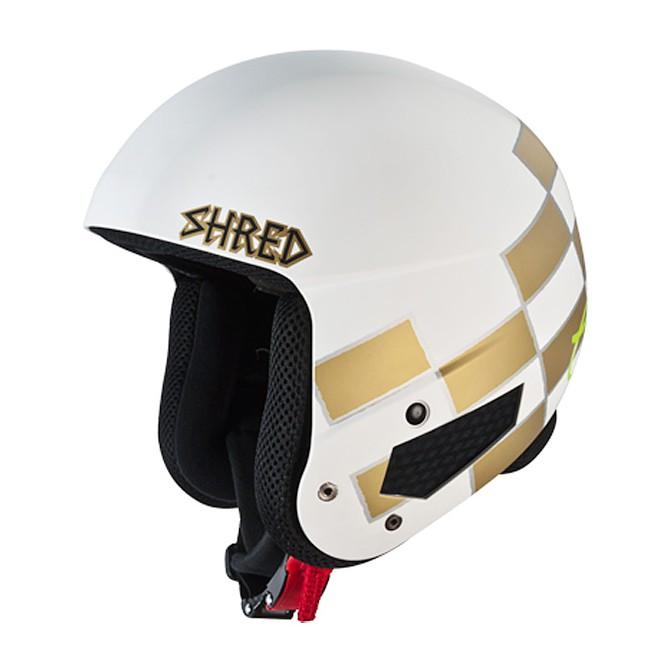 Casco sci Shred Mega Brian Bucket bianco-oro