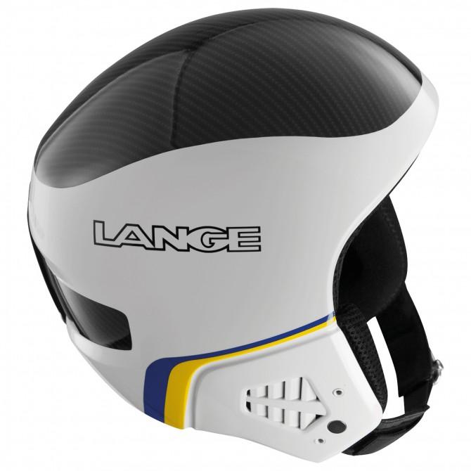 Casco sci Lange Race Sr con mentoniera bianco-nero