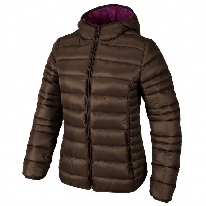 Hooded down jacket Cmp Woman brown
