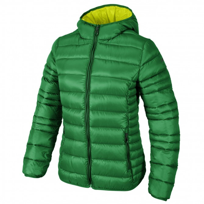 Hooded down jacket Cmp Woman green