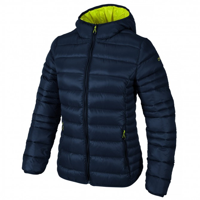 Hooded down jacket Cmp Woman blue