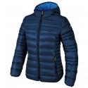 Hooded down jacket Cmp Woman dark blue