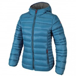 Hooded down jacket Cmp Girl light blue