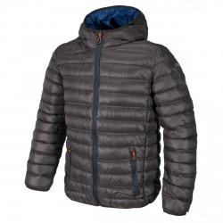 Hooded down jacket Cmp Man grey-royal