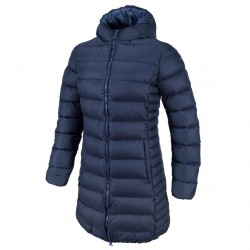 Long down jacket Cmp Woman blue