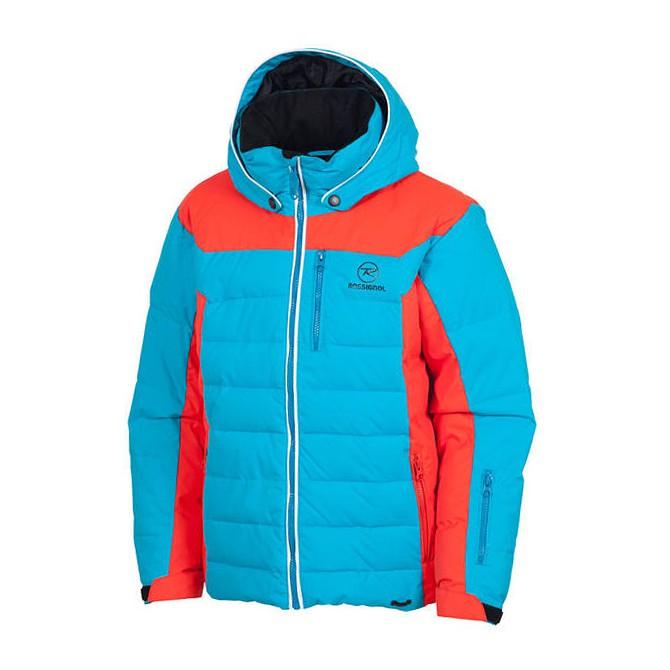Giacca sci Rossignol Polydown Junior azzurro-rosso