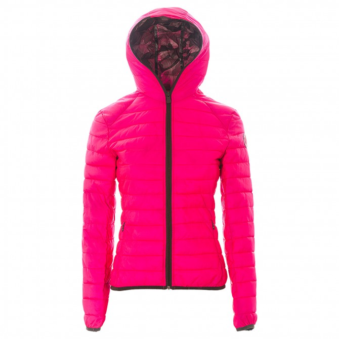 Piumino Neon Ultra Light Donna rosa fluo-camouflage