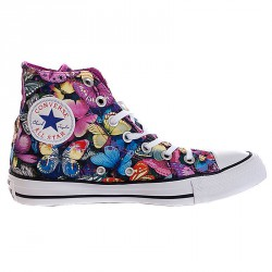 Sneakers Converse All Star Hi Canvas Femme fantaisie papillons