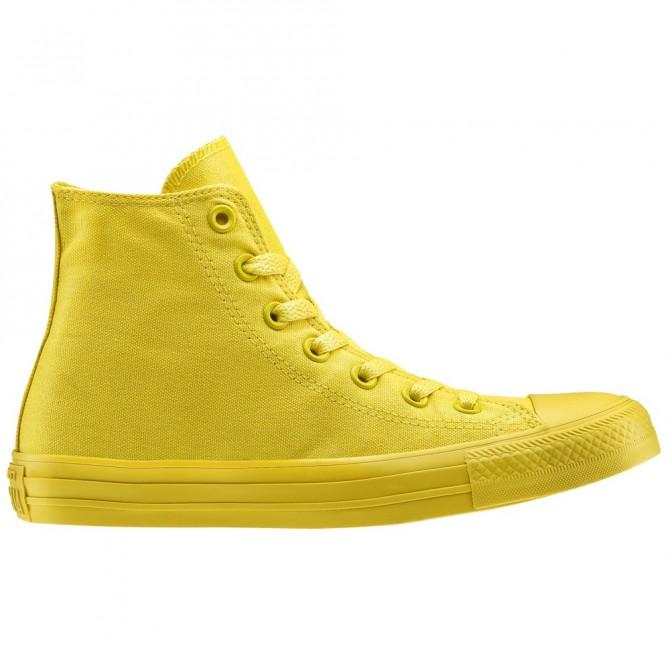 Scarpa Converse All Star hi canvas monochrome giallo