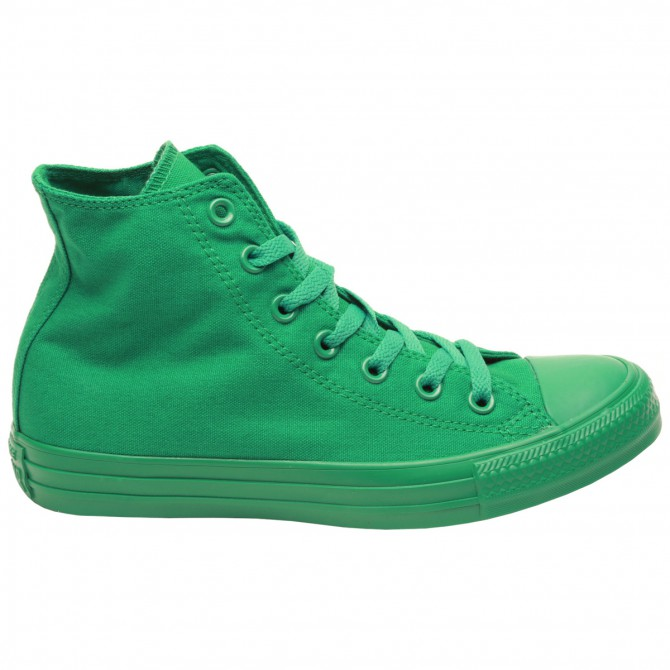 Scarpa Converse All Star hi canvas monochrome verde