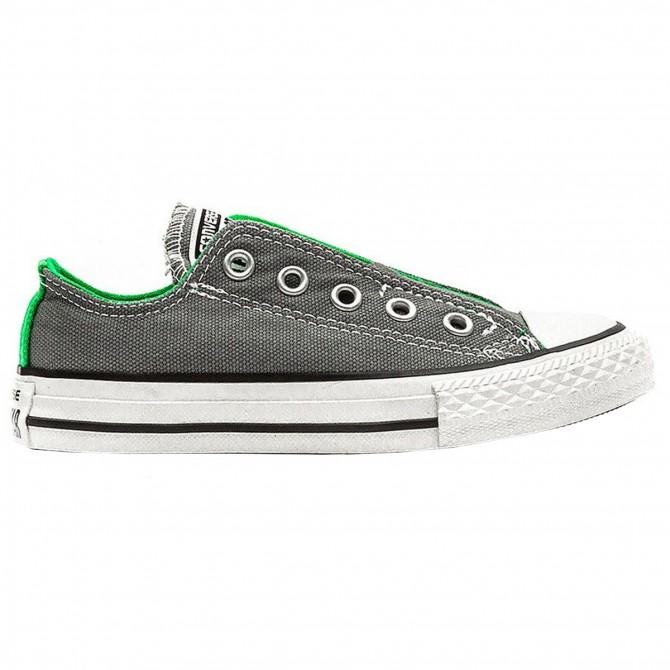 Scarpa Converse All Star slip canvas grigio-verde