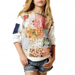 Sweat-shirt Twin-Set Patchwork Fille
