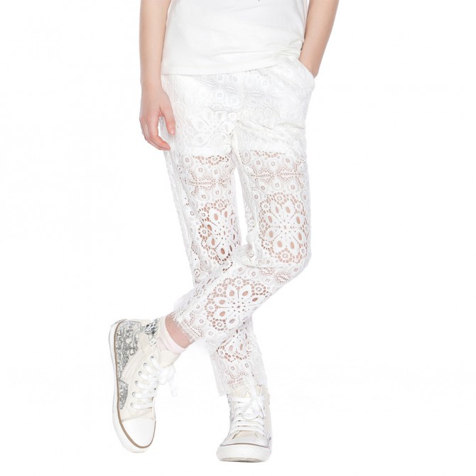 Lace pants Twin-Set Girl