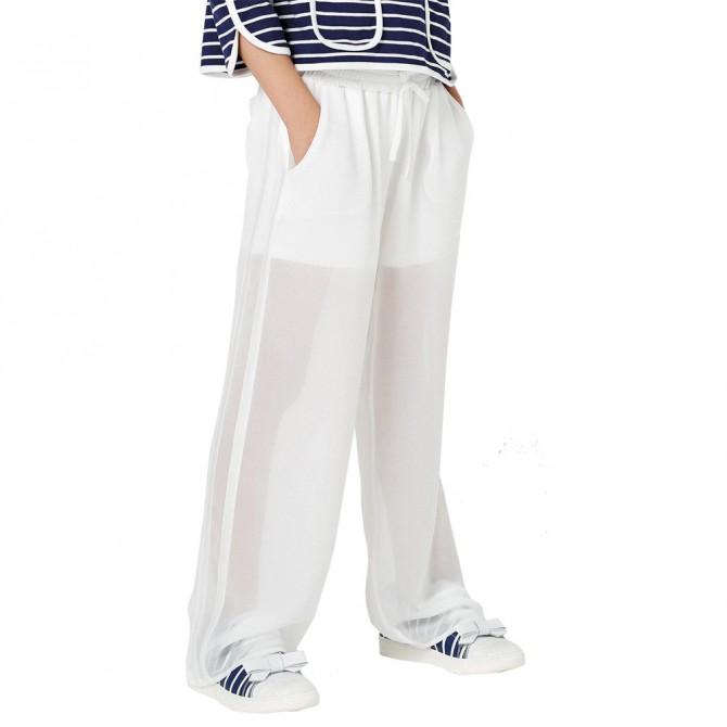 Pantalone Twin-Set Ragazza bianco