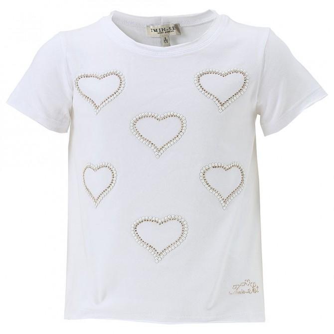 T-shirt Twin-Set Girl hearts