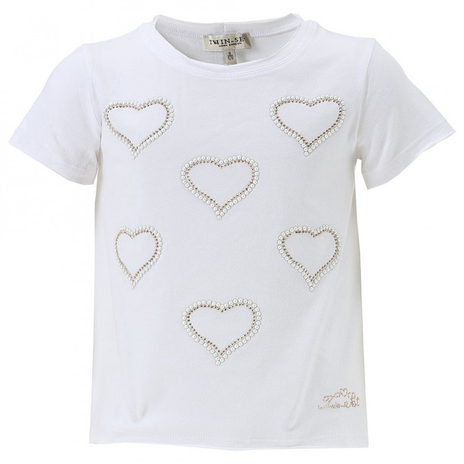 T-shirt Twin-Set Niña corazones
