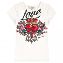 T-shirt Twin-Set bianco fantasia