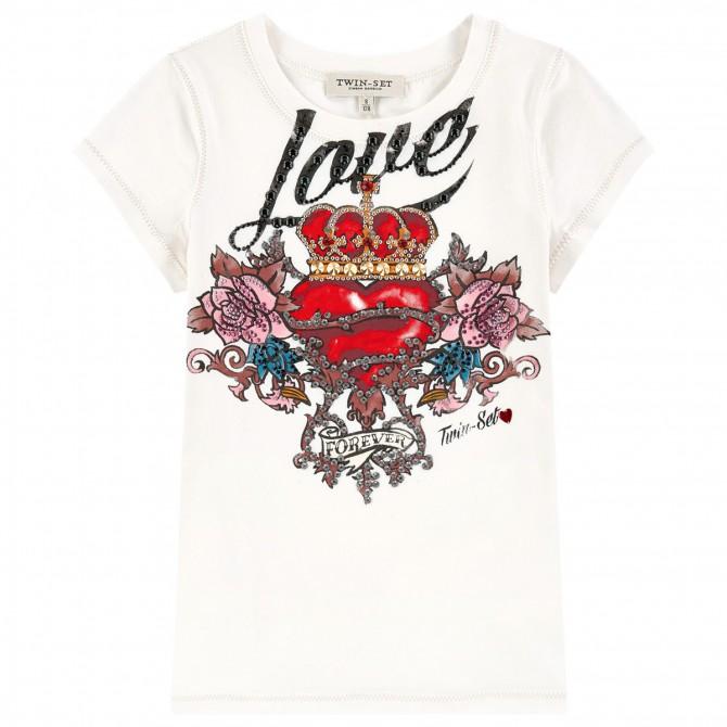 T-shirt Twin-Set Girl Love