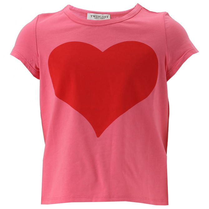 T-shirt Twin-Set Niña rosa-rojo