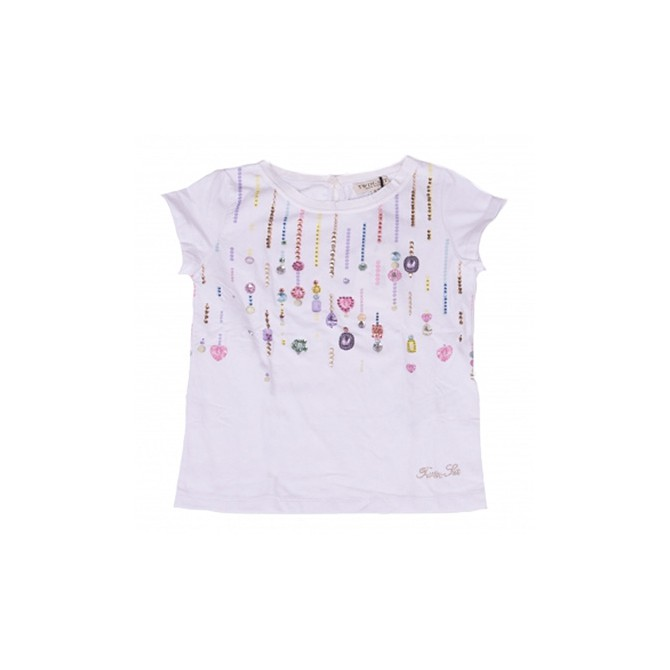 T-shirt Twin-Set Girl with rhinestones