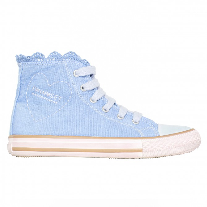 Sneakers Twin-Set Fille bleu clair (28-34)