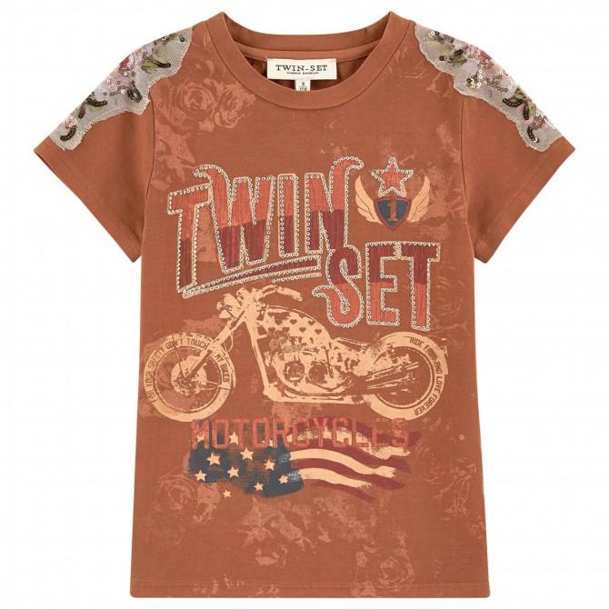 T-shirt Twin-Set marrone