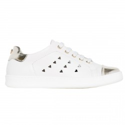 Sneakers Twin-Set Fille blanc-or (35-40)