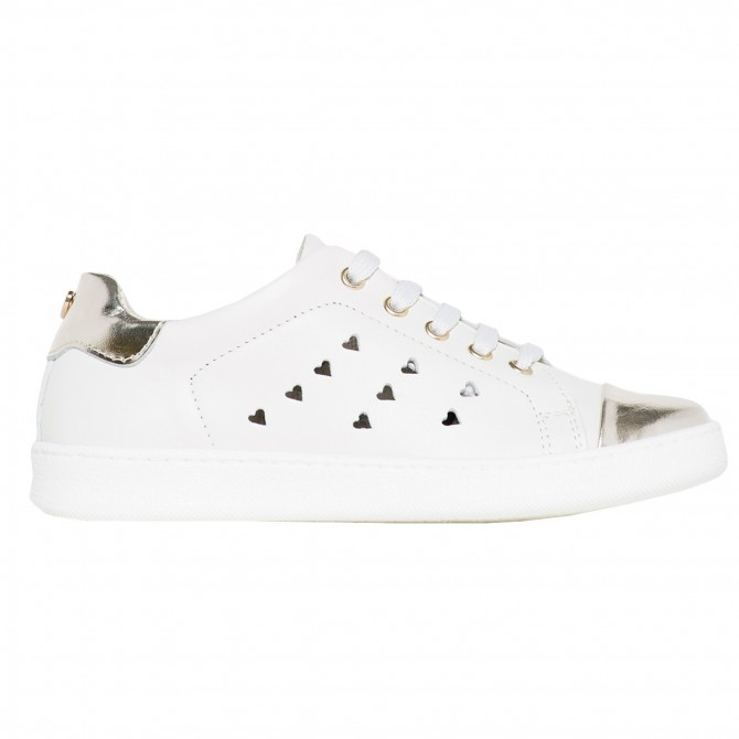 Sneakers Twin-Set Fille blanc-or (28-34)