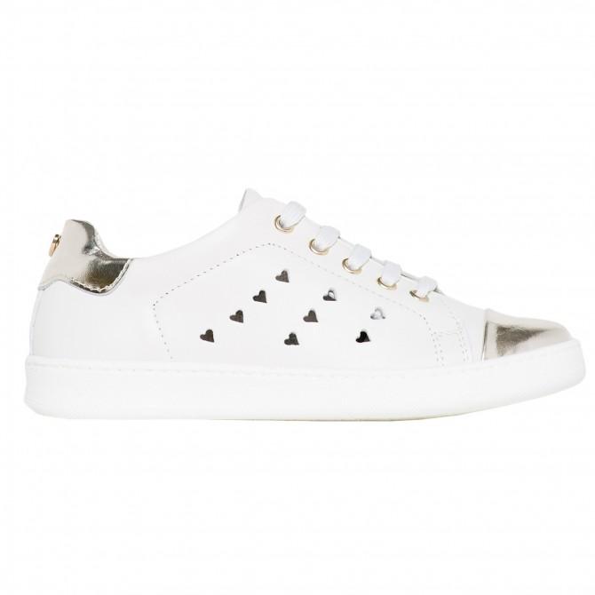 Sneakers Twin-Set Niña blanco-oro (28-34)