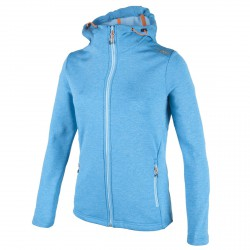 Hooded sweater Cmp Woman light blue