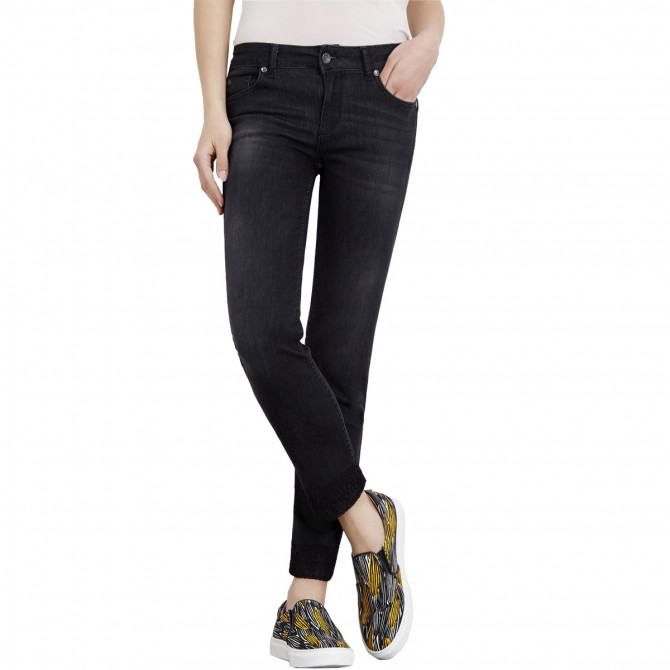 Jeans Liu-Jo Bottom Up Monroe Regular Waist Donna nero
