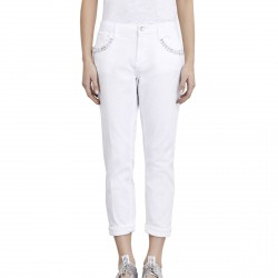 Pants Liu-Jo Boy Precious Regular Waist Woman white