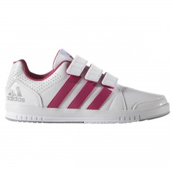 Sneakers Adidas Lk Trainer 7 Girl bianco-rosa (mis .28-38)