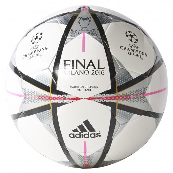 Ballon Adidas Finale Milano Capitano blanc