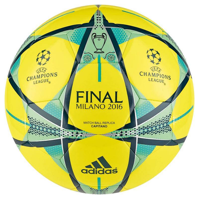 Pallone Adidas Finale Milano Capitano giallo