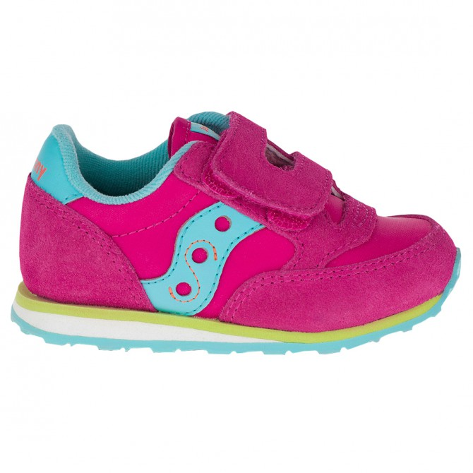 Sneakers Saucony Jazz HL Baby rosa-azzurro-lime
