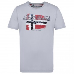 T-shirt Napapijri Slood Homme gris