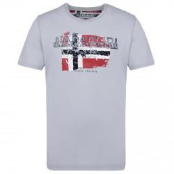 T-shirt Napapijri Slood Uomo grigio