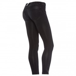 Pantalones jeans Freddy Wr.Up Shaping 7/8 Mujer negro