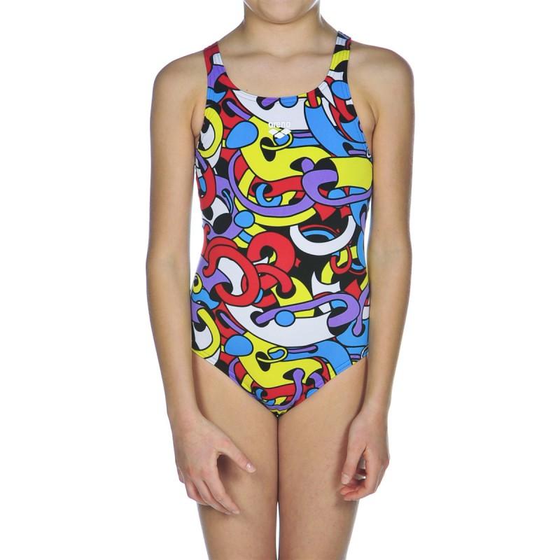 Costume intero arena cores bambina costumi mare e piscina for Arena costumi piscina