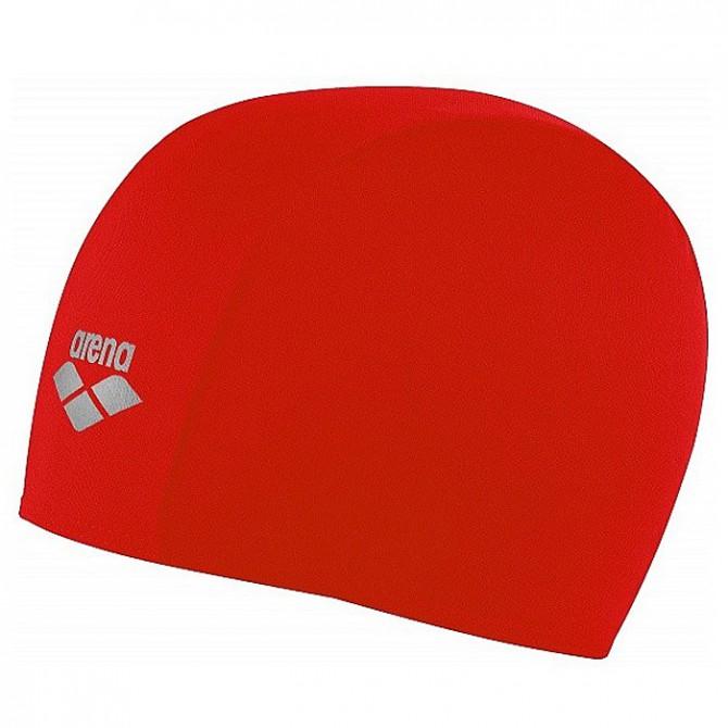 Gorro de natación Arena Polyester Junior rojo