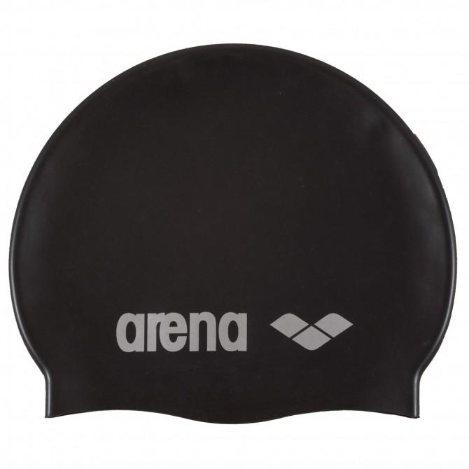 Bonnet de bain Arena Classic Silicone Junior noir