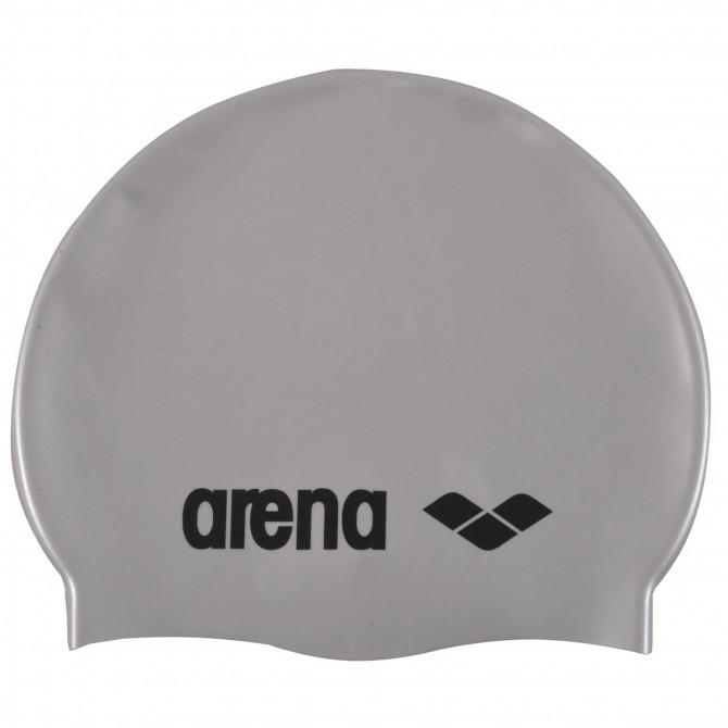 Bonnet de bain Arena Classic Silicone Junior gris