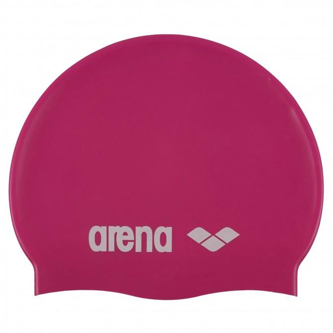 Gorro de natación Arena Classic Silicone Junior fucsia
