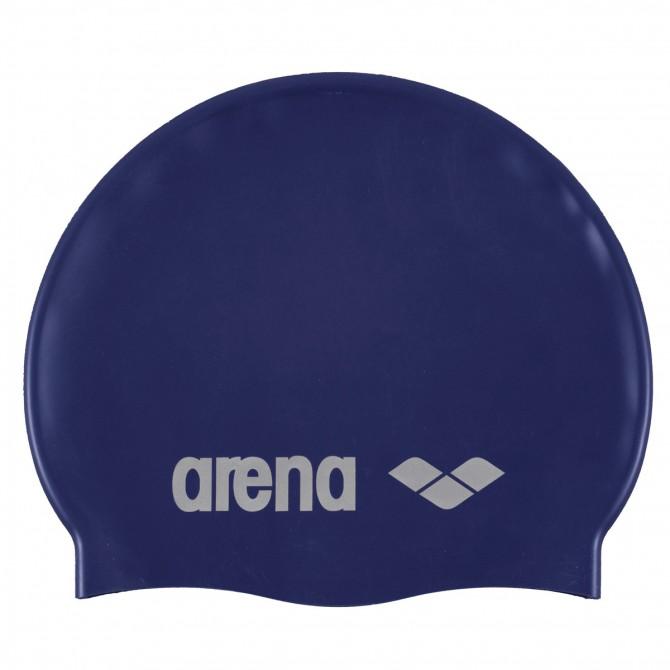 Bonnet de bain Arena Classic Silicone Junior bleu