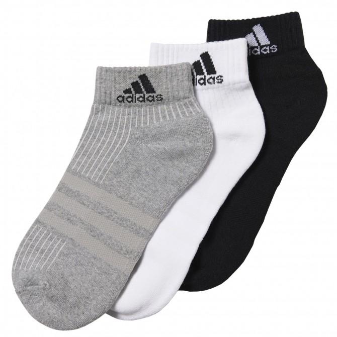 Calze Adidas 3 Stripes Performance nero grigio bianco